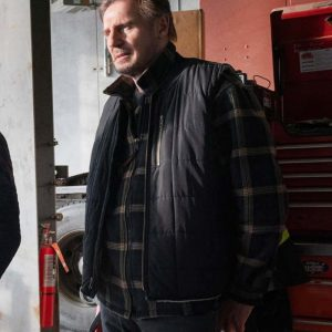 Mike The Ice Road 2021 Liam Neeson Black Cotton Vest