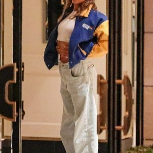Hailey Bieber Benetton Formula 1 Bomber Jacket