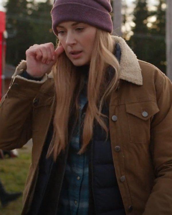 Virgin-River-Season-3-Melinda-Monroe-Shearling-Collar-Jacket