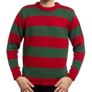 Red and Green Nightmare on Elm Street Freddy Krueger Striped Sweater