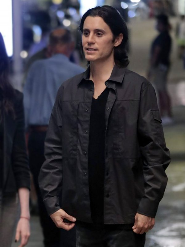 Jared Leto Grey Cotton Jacket WeCrashed Adam Neumann Jacket
