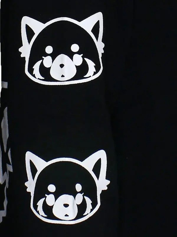 Aggretsuko-Sleeve-Faces-Hooded