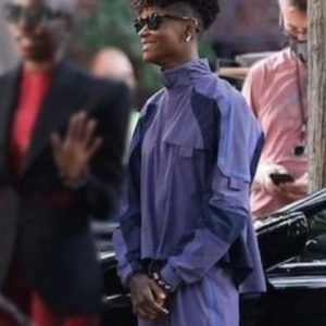 Shuri Black Panther: Wakanda Forever 2022 Letitia Wright Purple Cotton Jacket