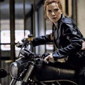 Scarlett Johansson Black Widow 2021 Black Leather Jacket