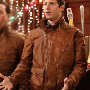 TV Series Brooklyn Nine-Nine Andy Samberg Brown Leather Jacket