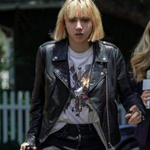Zoe Kazan Clickbait 2021 Pia Brewer Black Motorcycle Leather Jacket