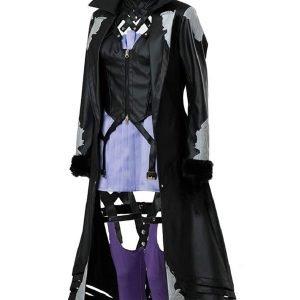 Video Game Code Vein Mia Karnstein Long Black Leather Coat