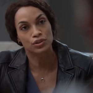 Rosario Dawson TV Series Dopesick 2021 Black Leather Jacket