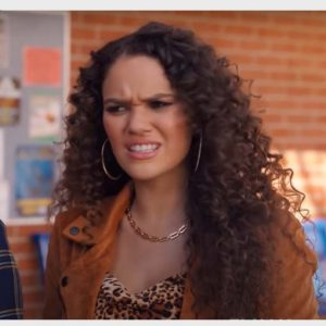 Madison Pettis He's All That 2021 Brown Suede Leather Jacket