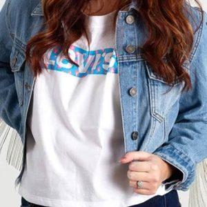 Destiny Hustlers Constance Wu Blue Cropped Denim Jacket
