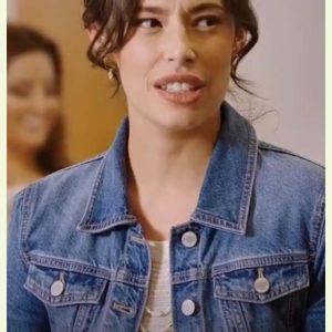 Chloe Bridges Love, for Real Hayley Blue Denim Jacket