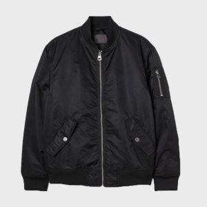 Elegant Men's Bomber Black Jacket
