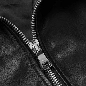 Mens Black Bomber Shearling Leather Jacket