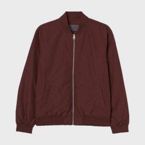 Classic Burgundy Color Bomber Jacket for Men's