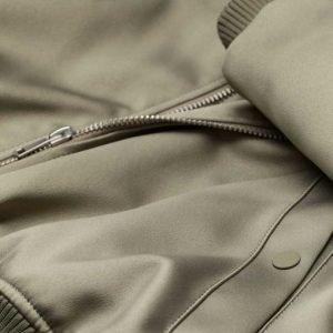 Mens Olive Grey Bomber Jacket