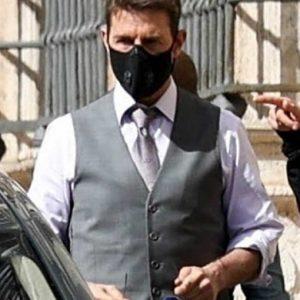 Tom Cruise Mission Impossible 7 Ethan Hunt Grey Vest