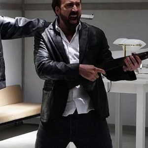 Nicolas Cage Black Prisoners of the Ghostland 2021 Hero Leather Blazer