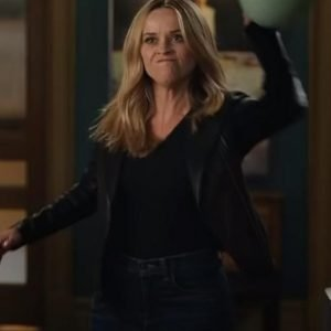 Reese Witherspoon Black The Morning Show S02 Leather Jacket