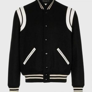 SLP Teddy bomber Jacket SLP Teddy Black Varsity Jacket