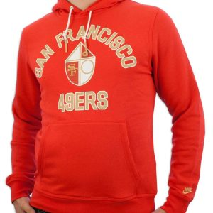 Red San Francisco 49ers Pullover Hoodie for Unisex