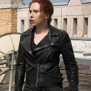 Natasha Romanoff Black Widow 2021 Motorcycle Leather Jacket