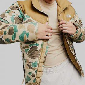 TV Series Ted Lasso Season 2 Richard Camo Puffer Jacket