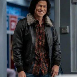 Cristo Fernández Ted Lasso S02 Black Bomber Leather Jacket