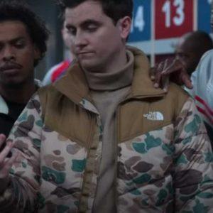 Stephen Manas Ted Lasso Season 02 Camo Puffer Jacket