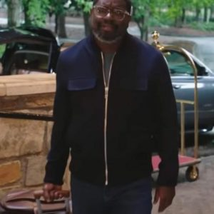 Lil Rel Howery Vacation Friends 2021 Marcus Black Cotton Jacket