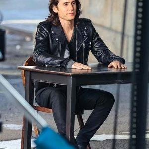 Adam Neumann TV Series WeCrashed 2022 Black Leather Jacket