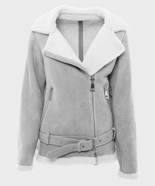 Womens-Shearling-Grey-Suede-Leather-Jacket