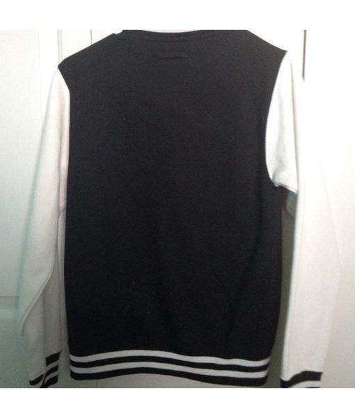 Black and White One Direction 1D Varsity Jacket