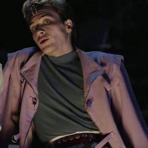 Cody Fern American Horror Story 1984 Light Purple Jacket