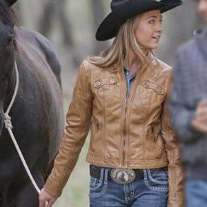 Heartland-Amy-Fleming-Leather-Jacket