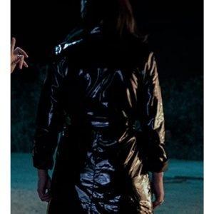 Lisa Nova Brand New Cherry Flavor Rosa Salazar Black Leather Coat
