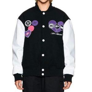 College 6pm Season Black and White Letterman Jacket