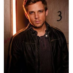 Bates Motel Max Thieriot Cafe Racer Leather Jacket