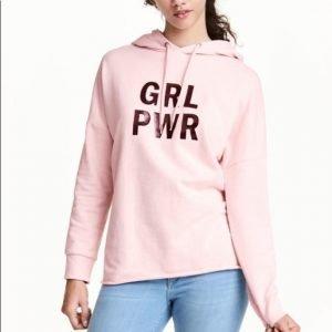 Womens Grl Pwr Pink Pullover Hoodie