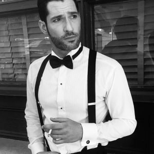 Morningstar TV Series Lucifer S06 White Shirt and Black Bow Tie