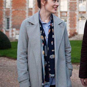 Cara Theobold Around the Sun Maggie Grey Wool Coat