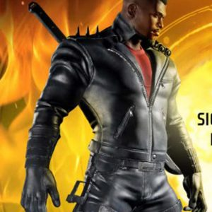 Midnight Sun Video Game Blade Black Leather Jacket with Spikes