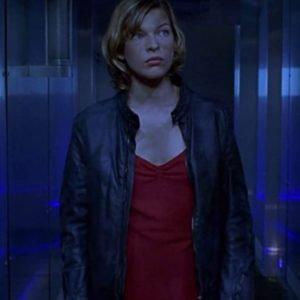 Milla Jovovich Resident Evil Black Leather Alice Jacket