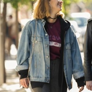 Elisabet Casanovas Sounds Like Love 2021 Jimena Blue Denim Jacket