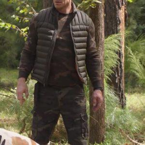 john Cena Black Puffer Vest