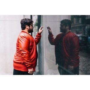 Guillermo What We Do in the Shadows 3 Harvey Guillen Red Bomber Jacket