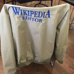Unisex Grey Wikipedia Editor Bomber Jacket