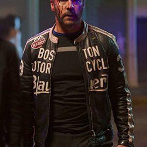 Jeremy Piven American Night 2021 Vincent Racer Black Leather Jacket