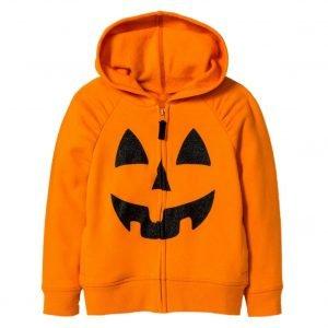 Unsiex Halloween Pumpkin Orange Hoodie