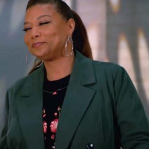 Queen Latifah The Equalizer S02 Double-Breasted Green Coat